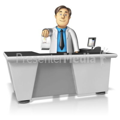 Pharmacist Handing Over Medication Presentation clipart