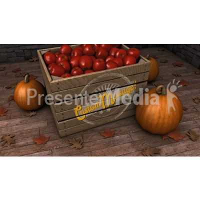 Autumn Crate Custom Presentation clipart