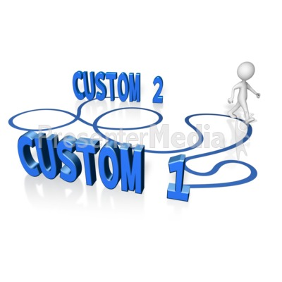 Custom A To B Long Way Presentation clipart