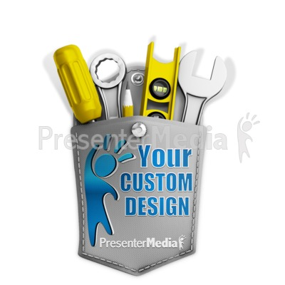 Tools In Custom Pocket Presentation clipart