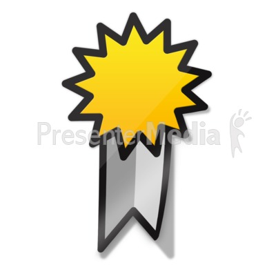Ribbon Sticker Icon Presentation clipart