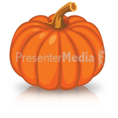 Single Orange Pumpkin Presentation clipart