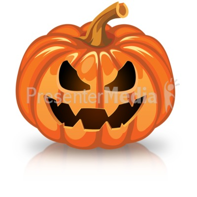 Single Scary Pumpkin Presentation clipart