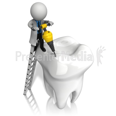 Dentist Jackhammer Tooth Presentation clipart