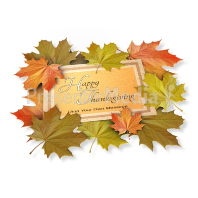 Autumn Leaf Card Presentation clipart