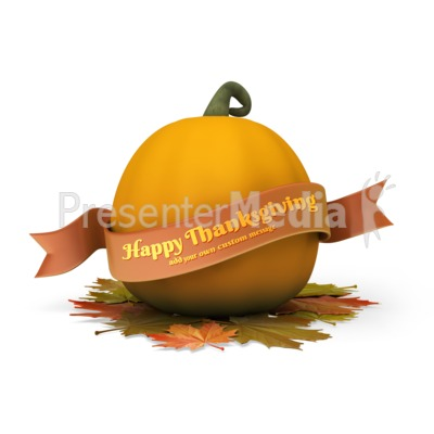 Pumpkin Banner Custom Presentation clipart