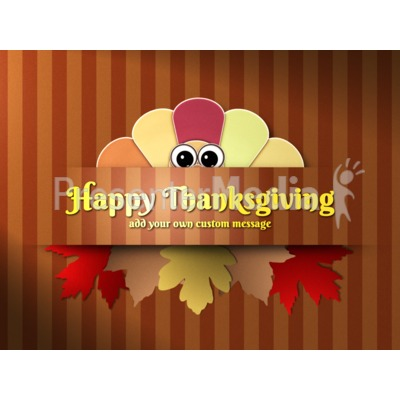 Turkey Peek Custom Presentation clipart
