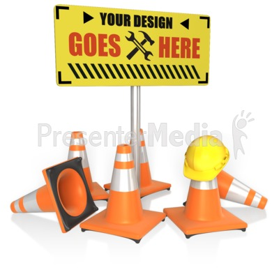 Custom Construction Sign Presentation clipart