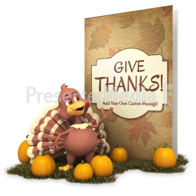 Greeting Card Turkey Presentation clipart