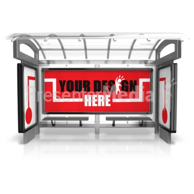 Custom Bus Stop Three Piece Presentation clipart