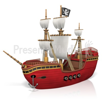 Pirate Ship Presentation clipart