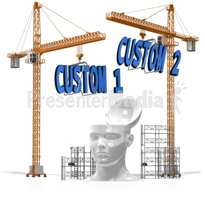 Custom Text Into Head Presentation clipart