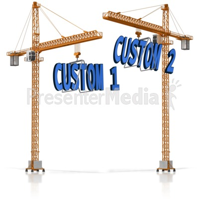 Custom Text On Crane Presentation clipart