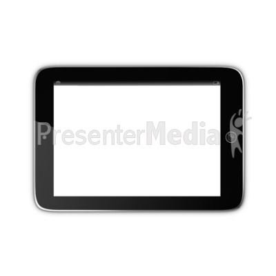 Tablet With Transparent Screen Presentation clipart