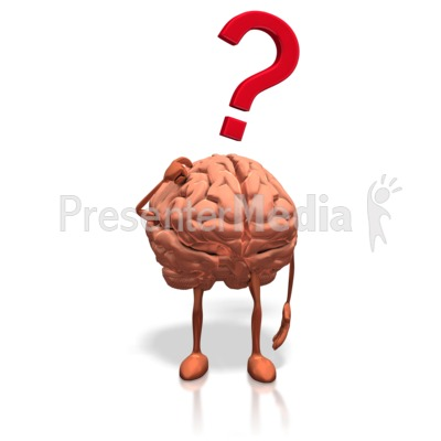 Brain Posing Question Presentation clipart