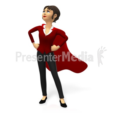 Super Business Woman Custom Presentation clipart