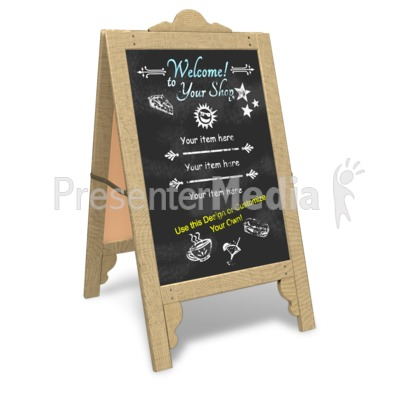 Custom Sidewalk Cafe Sign Presentation clipart