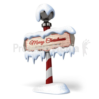 North Pole Sign Presentation clipart
