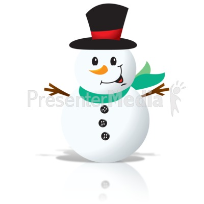 Simple Snowman Presentation clipart
