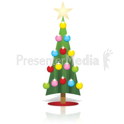 Simple Christmas Tree Presentation clipart
