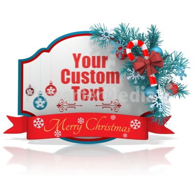 Custom Christmas Shape Banner Presentation clipart