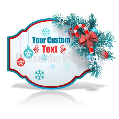 Custom Festive Christmas Shape Presentation clipart