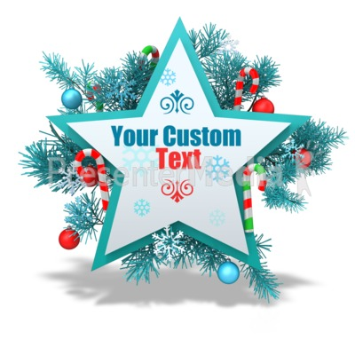Custom Festive Christmas Star Presentation clipart