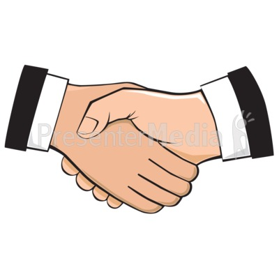 Handshake Illustration Presentation clipart