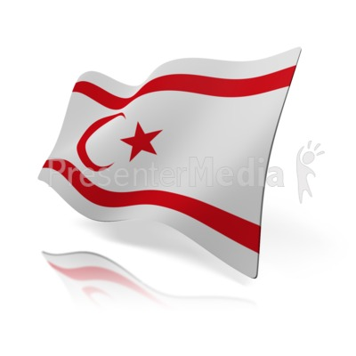 Northern Cyprus Flag Presentation clipart
