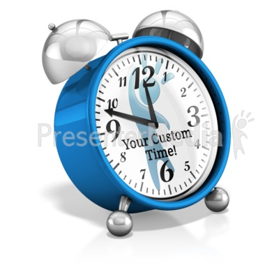Custom Clock Hands Presentation clipart
