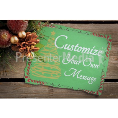 Garland Note Custom Presentation clipart
