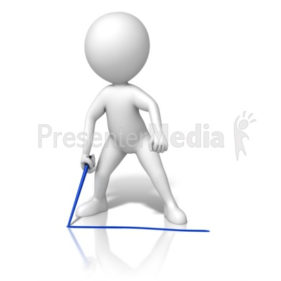 Draw The Line Presentation clipart