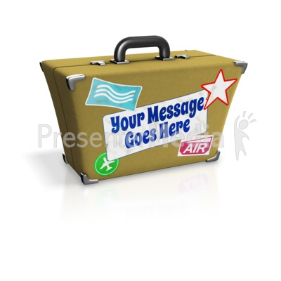Custom Suitcase Presentation clipart