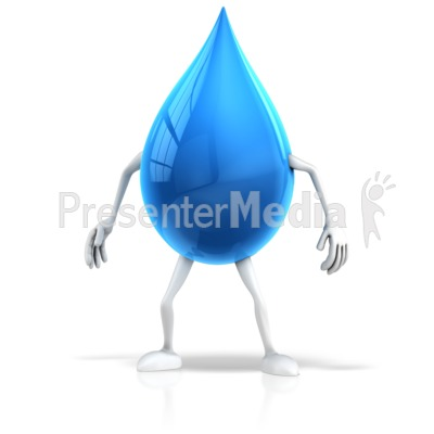 Water Drop Character Presentation clipart