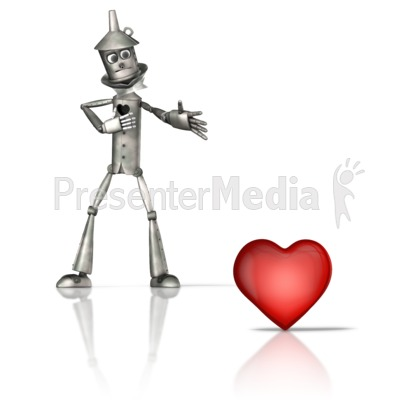 Tin Figure Missing Heart Presentation clipart