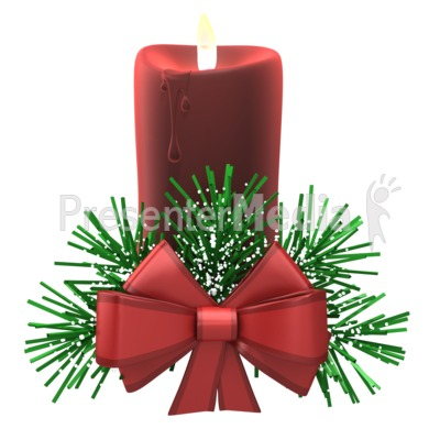 Christmas Candle Cozy Snow Presentation clipart