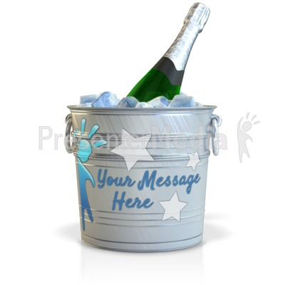 Champagne In A Custom Bucket Presentation clipart