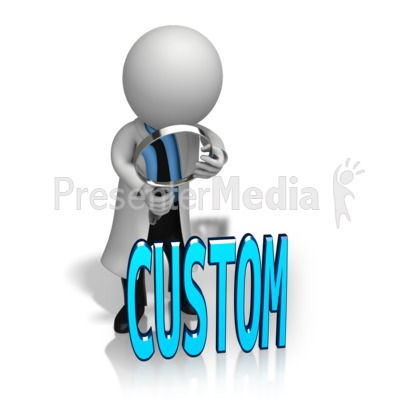 Figure Looking at Custom Text Presentation clipart