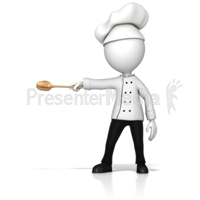 Chef Gesturing To The Side Presentation clipart