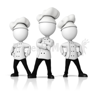 Chef Team Standing Strong Presentation clipart