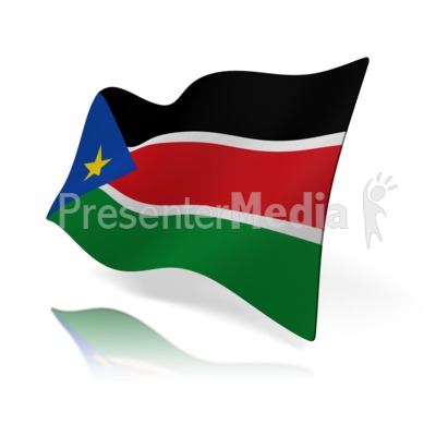 South Sudan Flag Presentation clipart