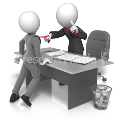 Workplace Grabbing Tie Presentation clipart