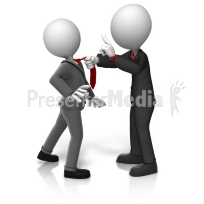 Grabbing Worker By Tie Presentation clipart