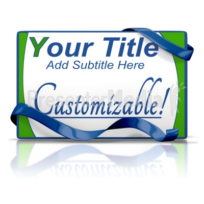 Custom Card And Ribbon Presentation clipart