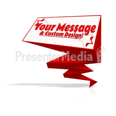 Geometric Folded Shape Display Presentation clipart