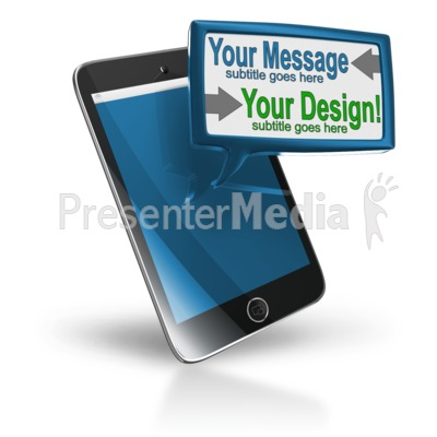 Smart Phone Custom Text Block Presentation clipart