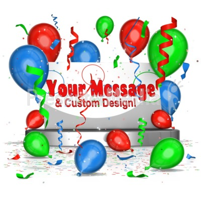 Party Scene With Custom Card Presentation clipart