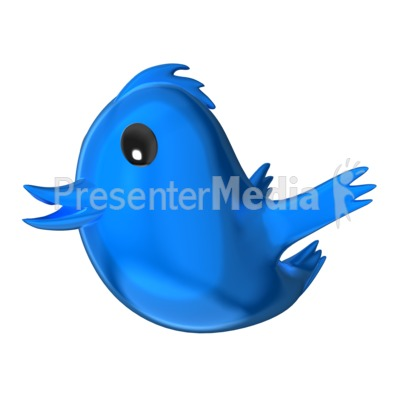 Social Media Bird Presentation clipart