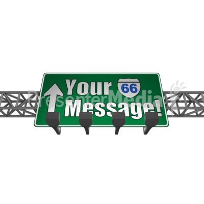 Overhead Freeway Custom Sign Presentation clipart