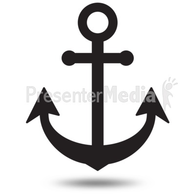 Anchor Simple Outline Presentation clipart